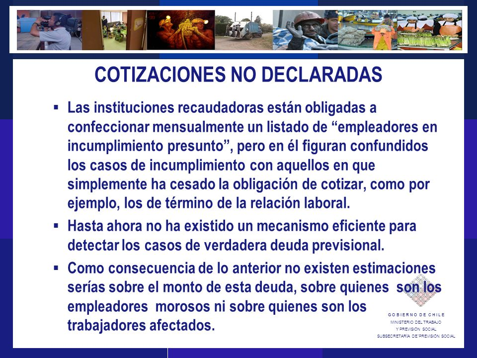 COTIZACIONES NO DECLARADAS