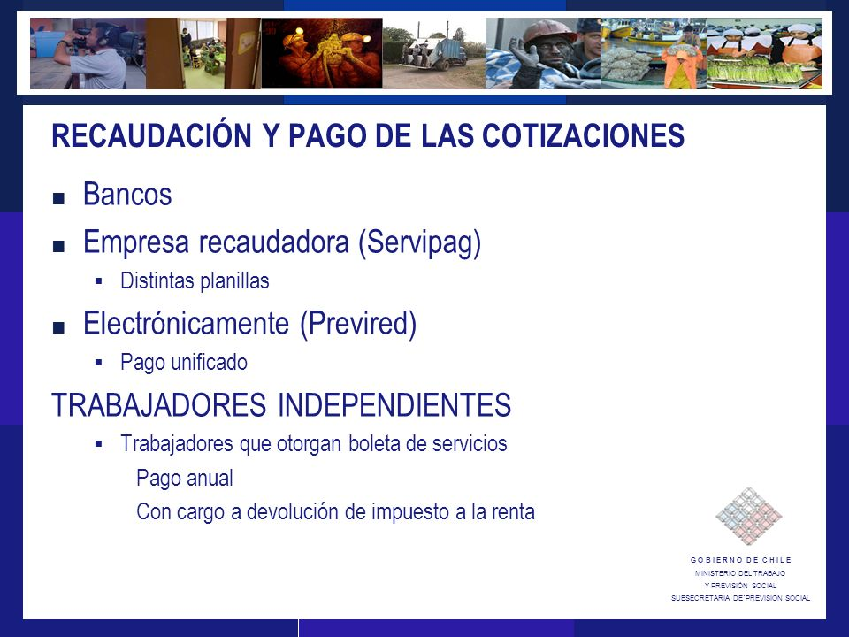RECAUDACIÓN Y PAGO DE LAS COTIZACIONES