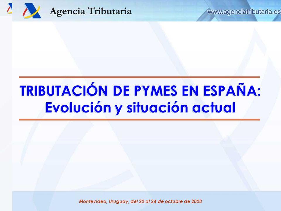 TRIBUTACIÓN DE PYMES EN ESPAÑA: Evolución y situación actual