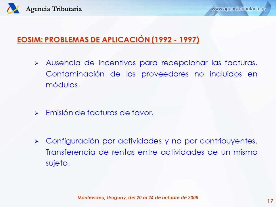 EOSIM: PROBLEMAS DE APLICACIÓN (1992 - 1997)