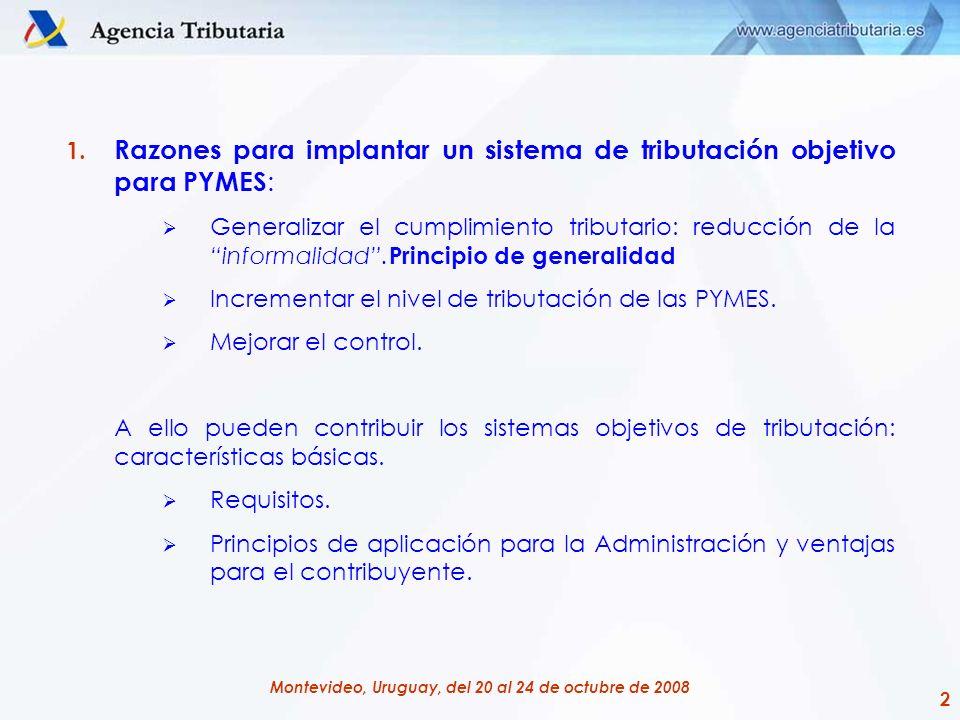 Razones para implantar un sistema de tributación objetivo para PYMES: