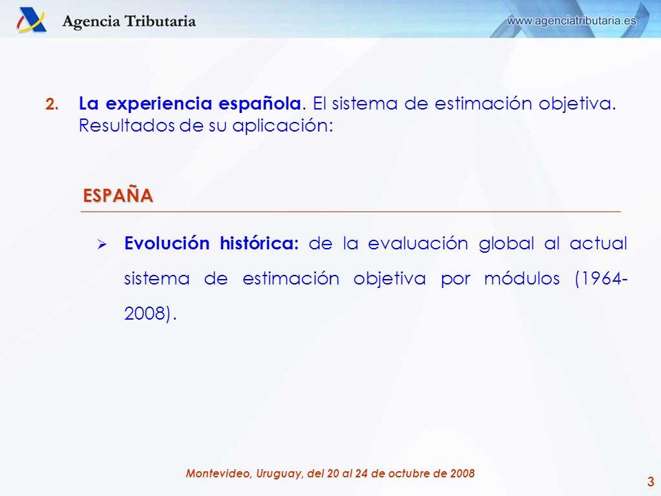 La experiencia española. El sistema de estimación objetiva