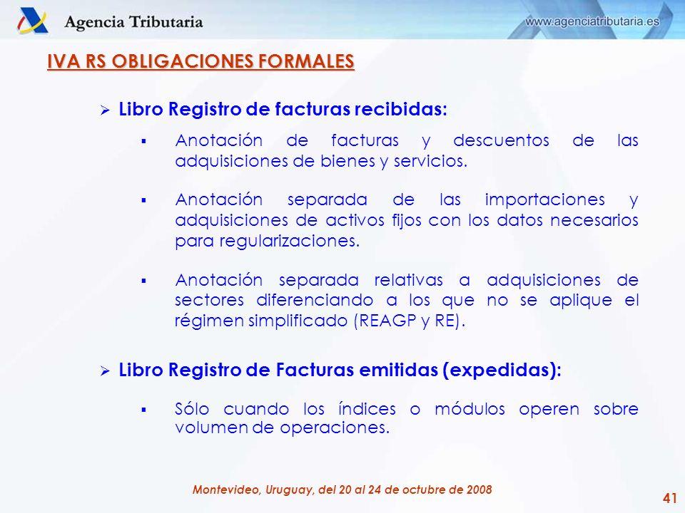 IVA RS OBLIGACIONES FORMALES Libro Registro de facturas recibidas: