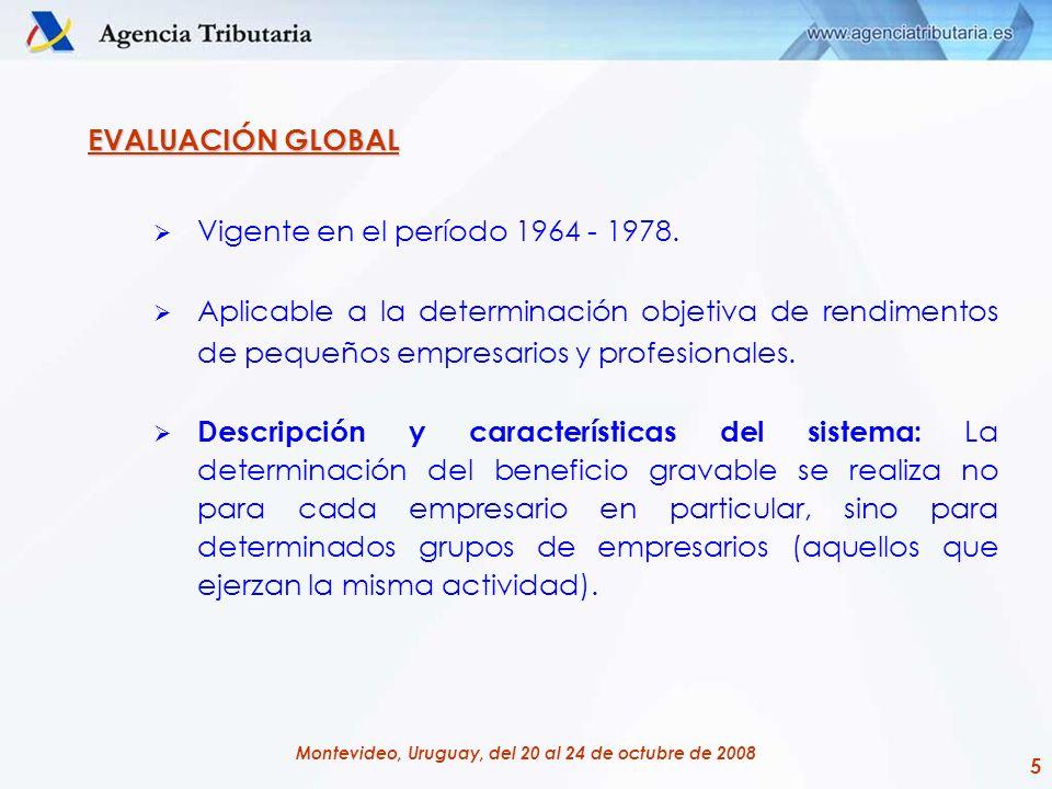 EVALUACIÓN GLOBAL Vigente en el período 1964 - 1978.