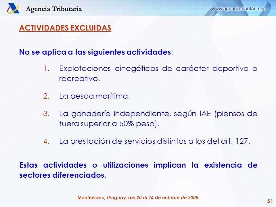 ACTIVIDADES EXCLUIDAS