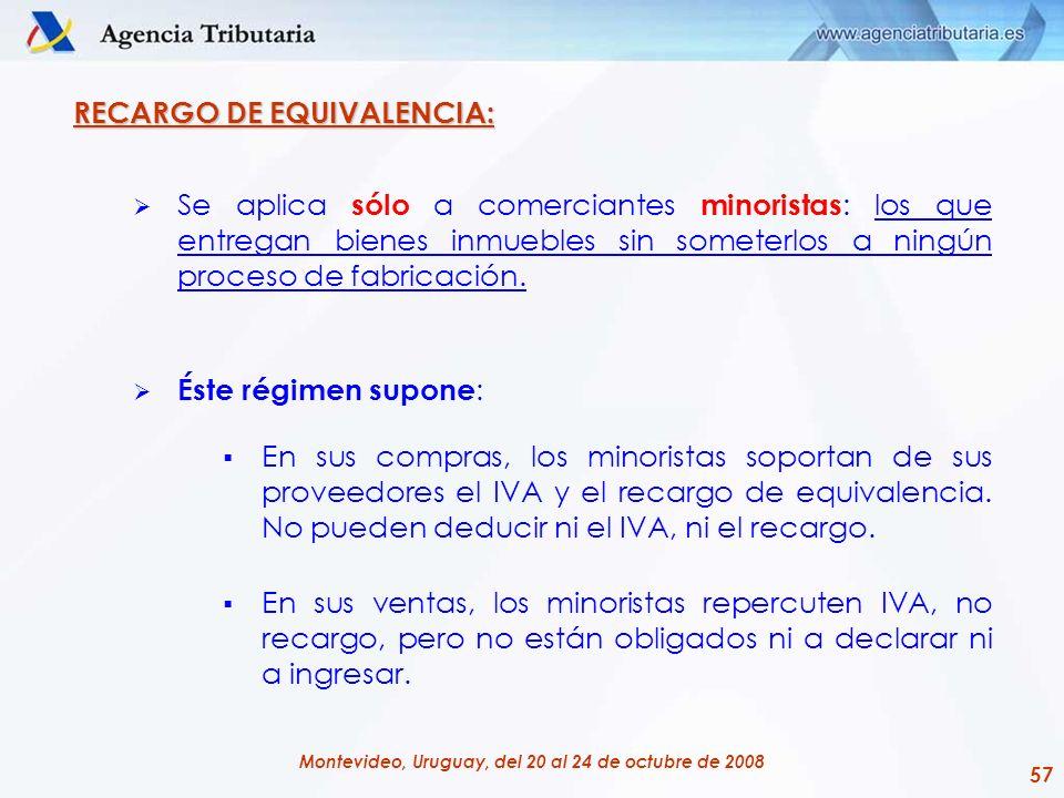 RECARGO DE EQUIVALENCIA:
