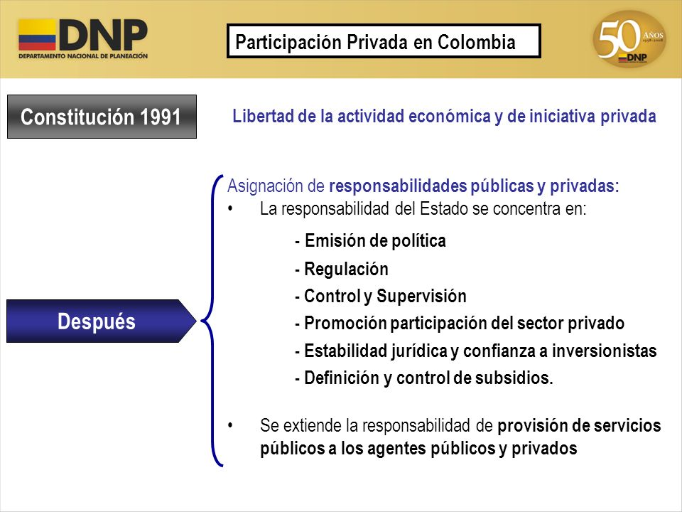 Constitución 1991 - Emisión de política Después