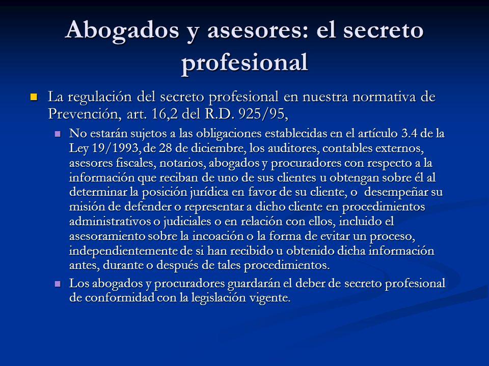 Abogados y asesores: el secreto profesional
