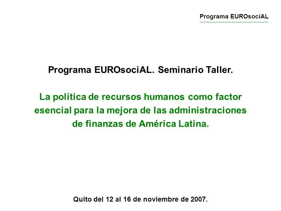 Quito del 12 al 16 de noviembre de 2007.