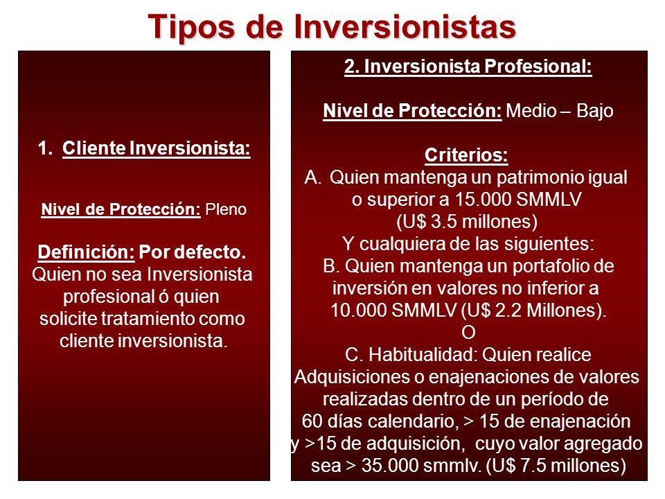 Tipos de Inversionistas