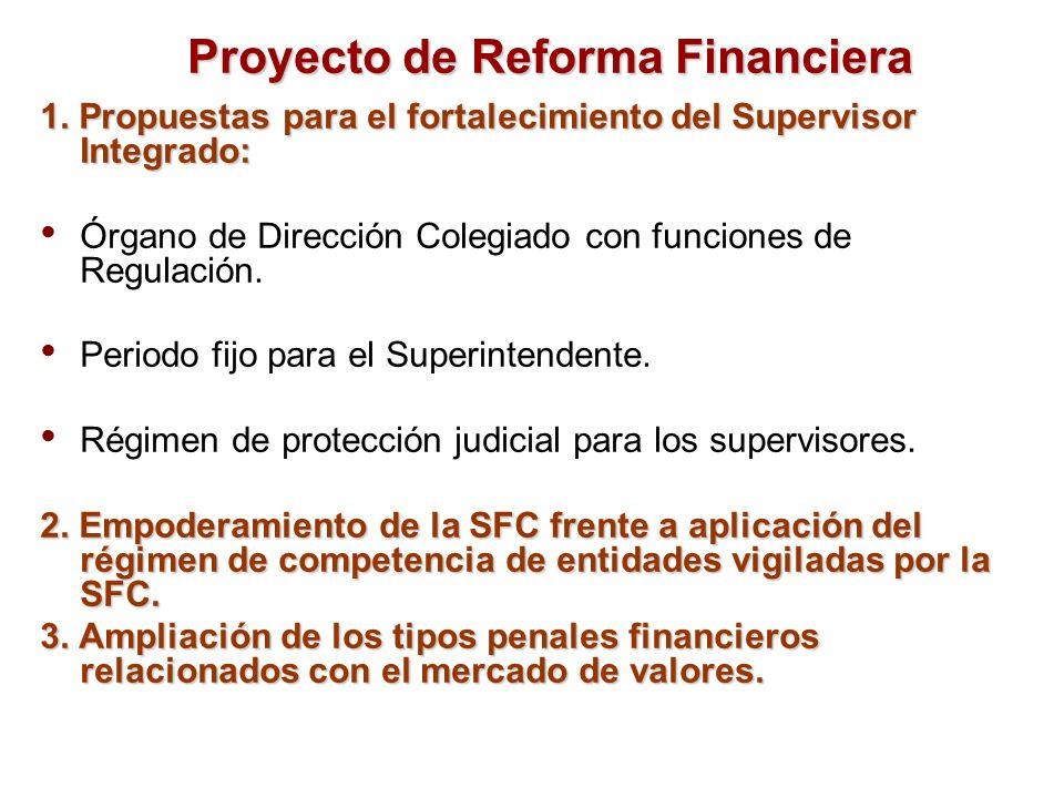 Proyecto de Reforma Financiera