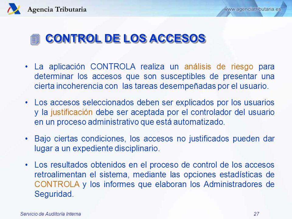 CONTROL DE LOS ACCESOS