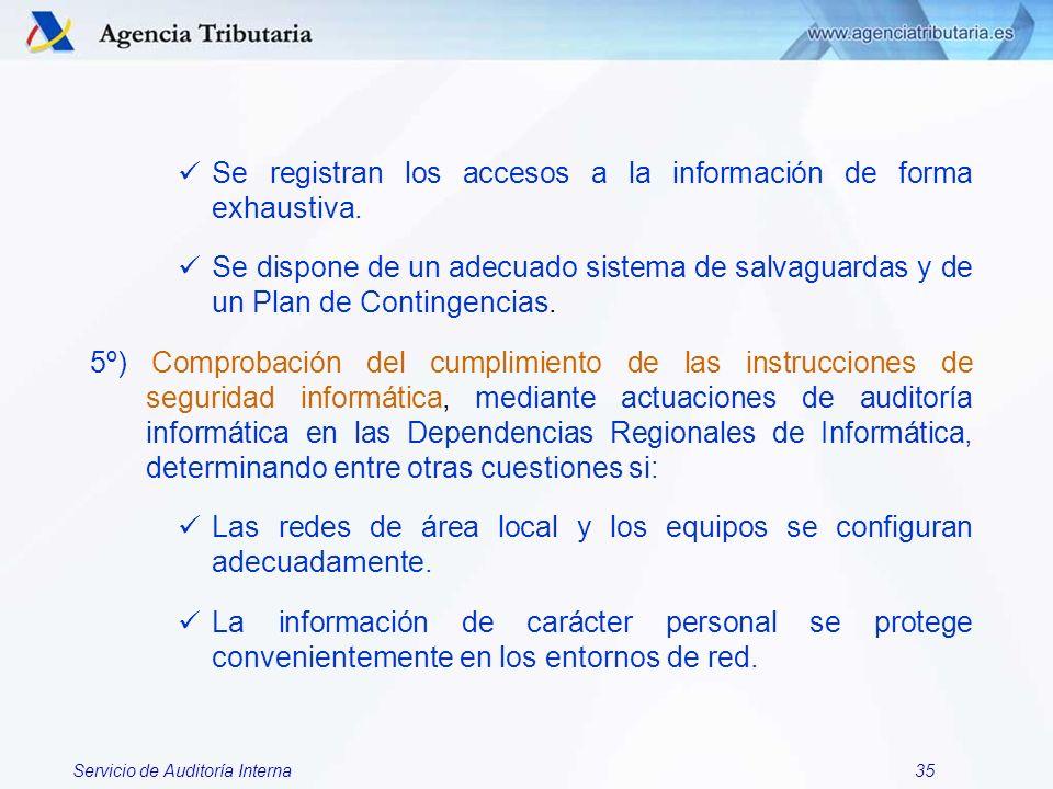 Se registran los accesos a la información de forma exhaustiva.