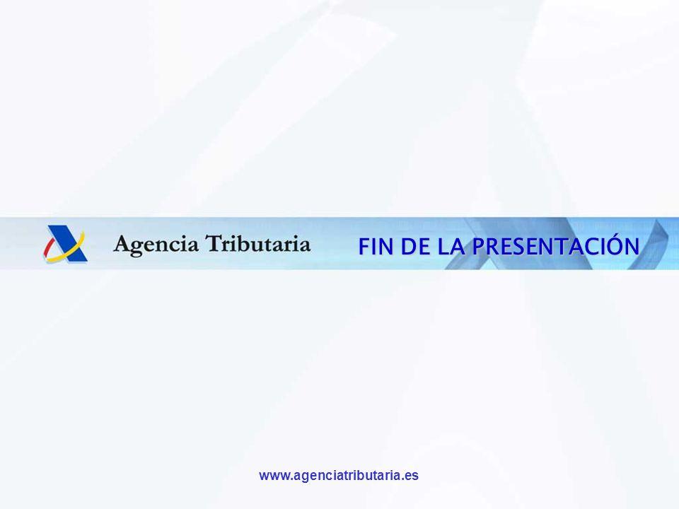 FIN DE LA PRESENTACIÓN CONTRAPORTADA www.agenciatributaria.es