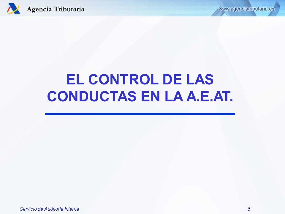 EL CONTROL DE LAS CONDUCTAS EN LA A.E.AT.