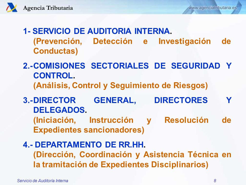 1- SERVICIO DE AUDITORIA INTERNA.