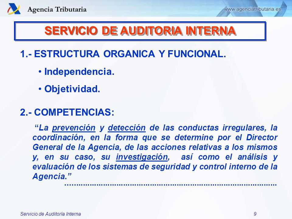 SERVICIO DE AUDITORIA INTERNA