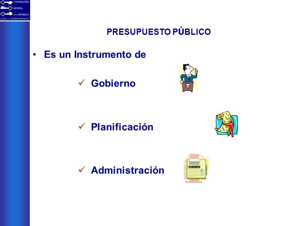 Es un Instrumento de Gobierno Planificación Administración