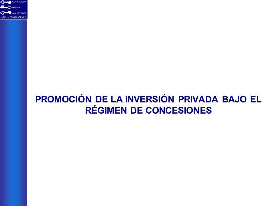 PROMOCIÓN DE LA INVERSIÓN PRIVADA BAJO EL RÉGIMEN DE CONCESIONES