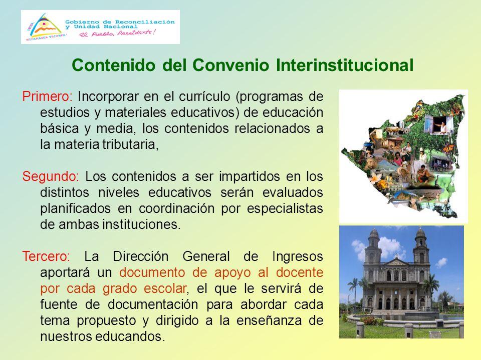 Contenido del Convenio Interinstitucional