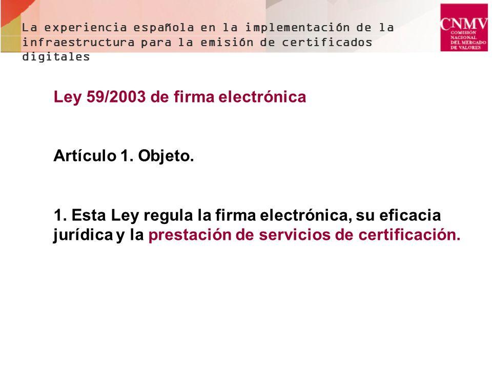 Ley 59/2003 de firma electrónica