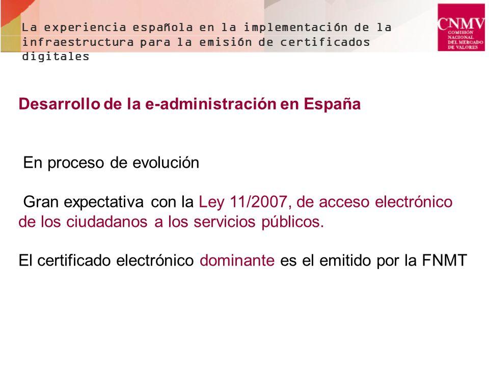 Desarrollo de la e-administración en España