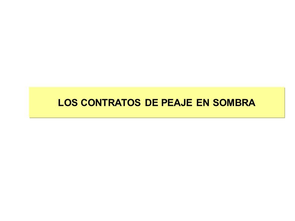 LOS CONTRATOS DE PEAJE EN SOMBRA