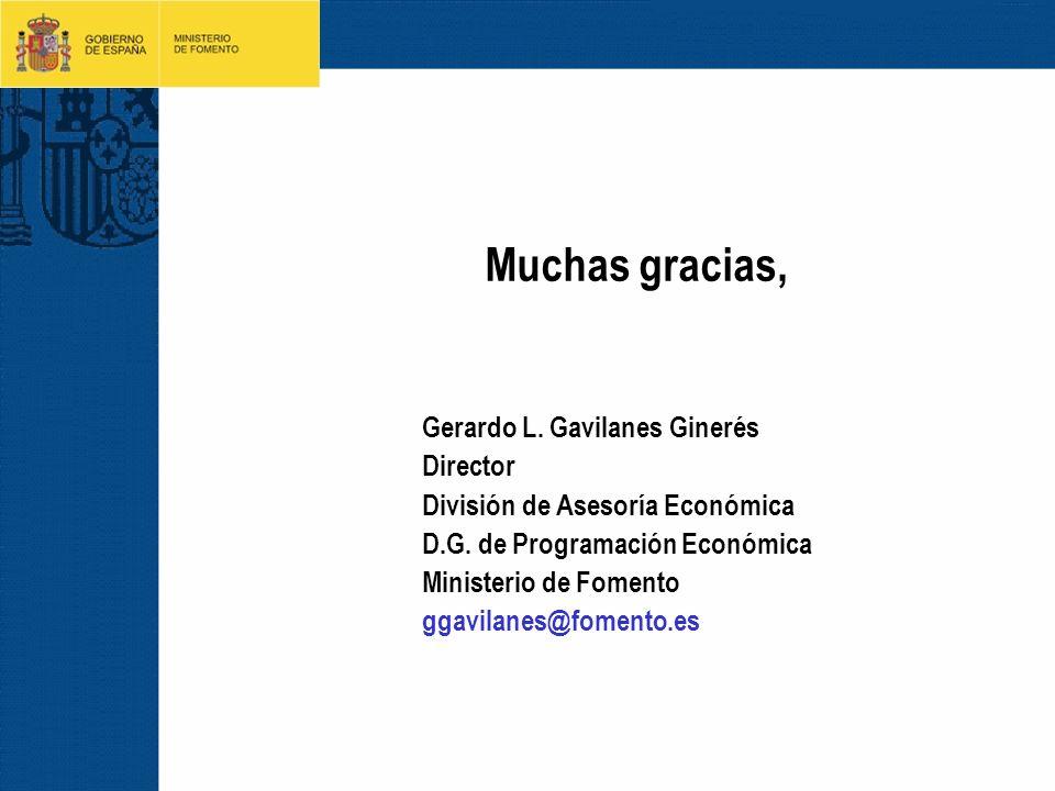 Muchas gracias, Gerardo L. Gavilanes Ginerés Director