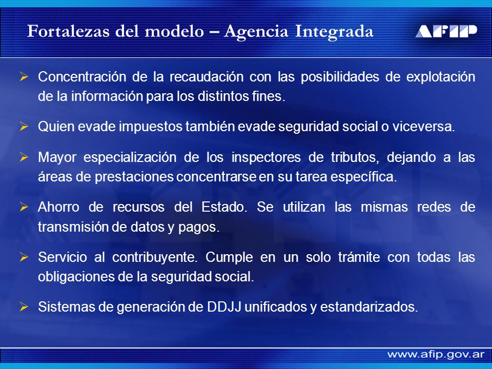 Fortalezas del modelo – Agencia Integrada