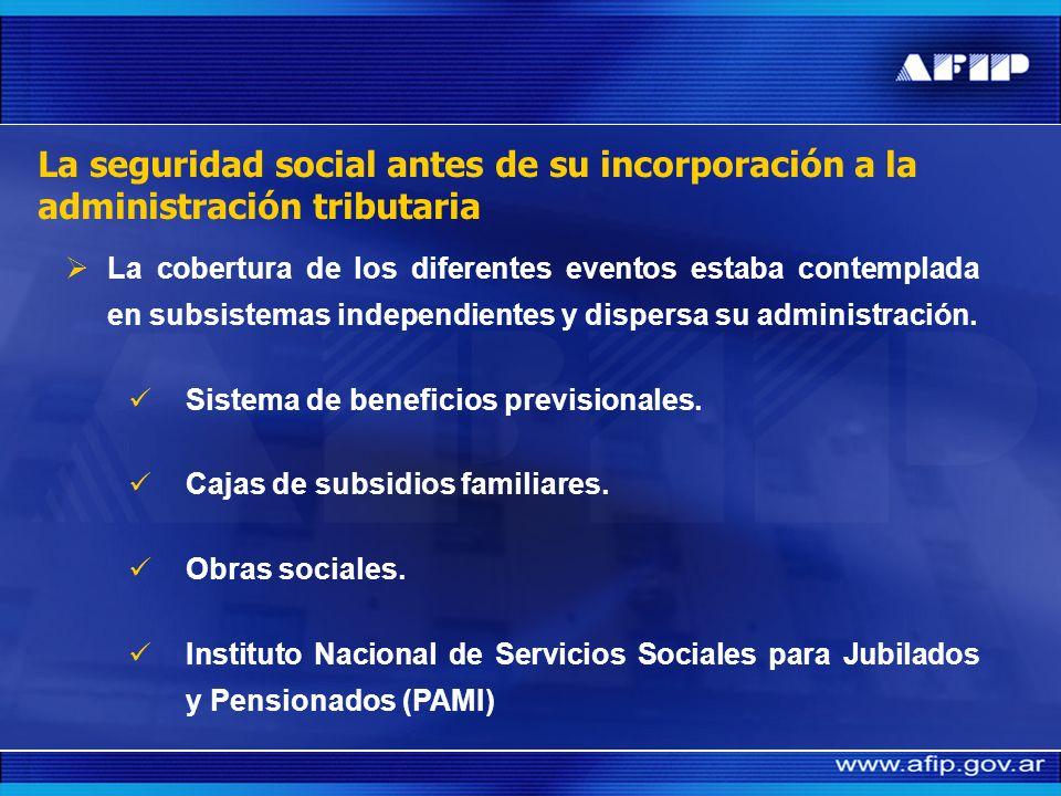 La seguridad social antes de su incorporación a la administración tributaria