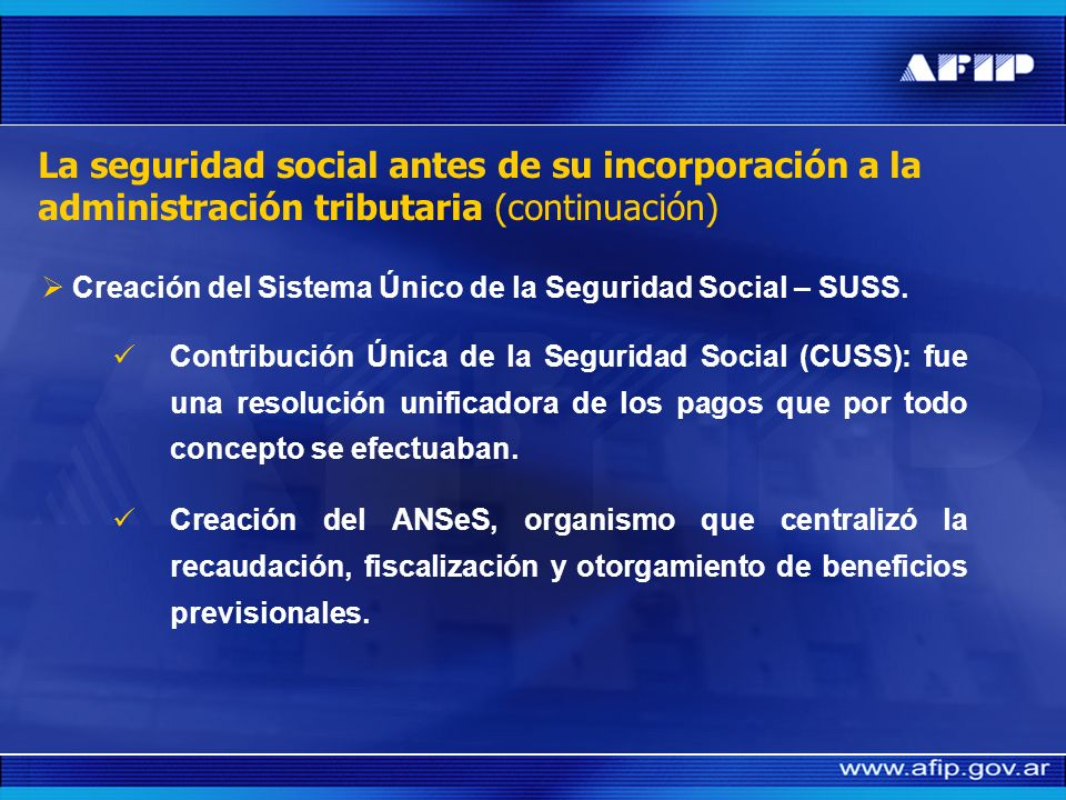 Creación del Sistema Único de la Seguridad Social – SUSS.