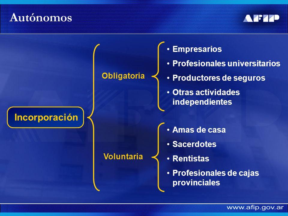 Autónomos Incorporación Empresarios Profesionales universitarios