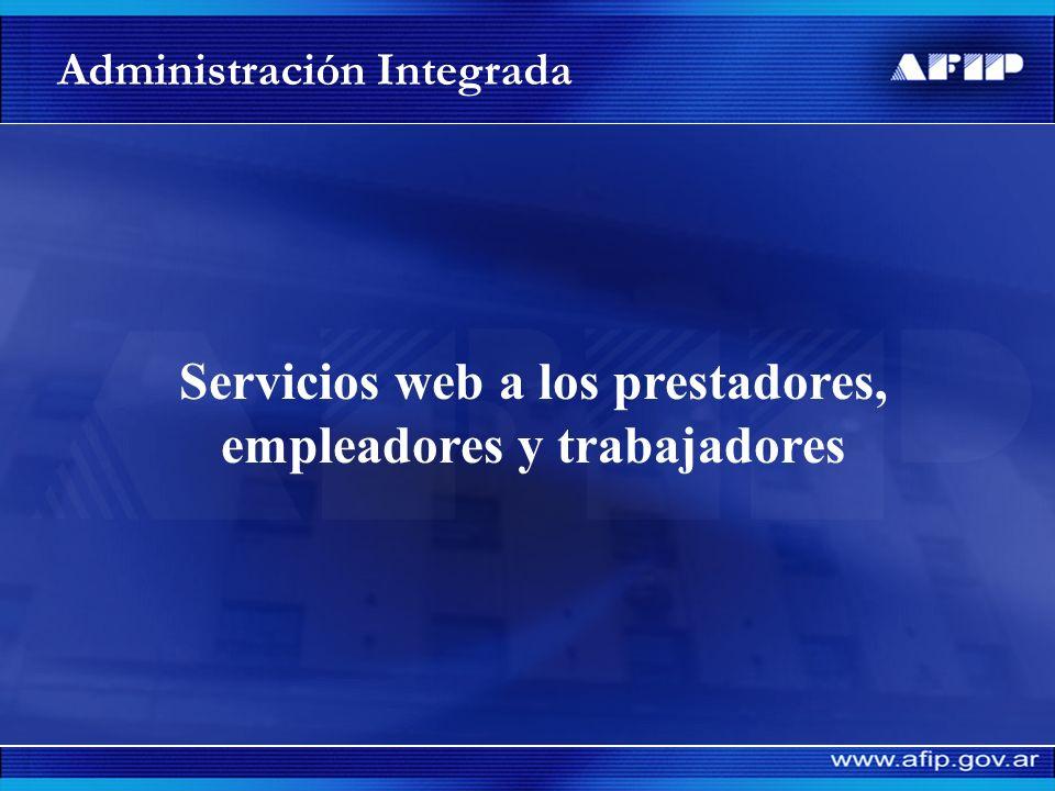 Servicios web a los prestadores, empleadores y trabajadores