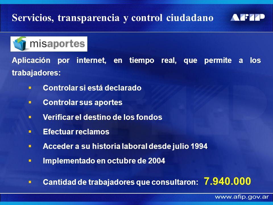 Servicios, transparencia y control ciudadano