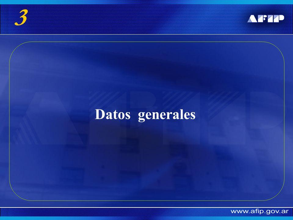 3 Datos generales
