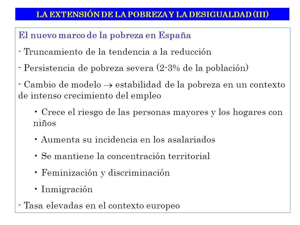 LA EXTENSIÓN DE LA POBREZA Y LA DESIGUALDAD (III)