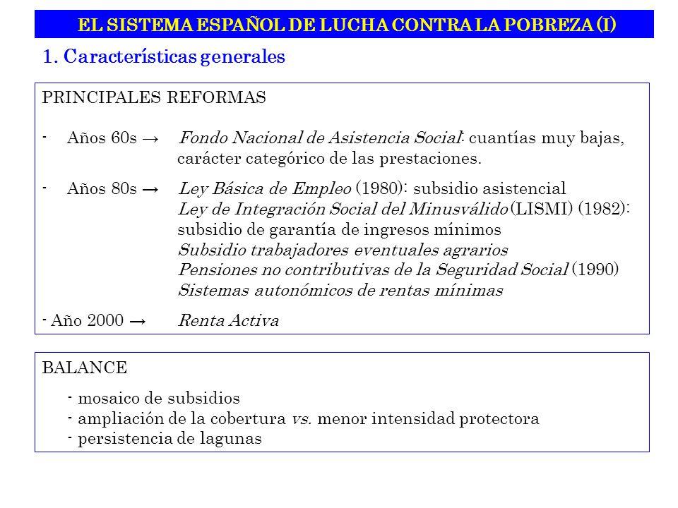 EL SISTEMA ESPAÑOL DE LUCHA CONTRA LA POBREZA (I)
