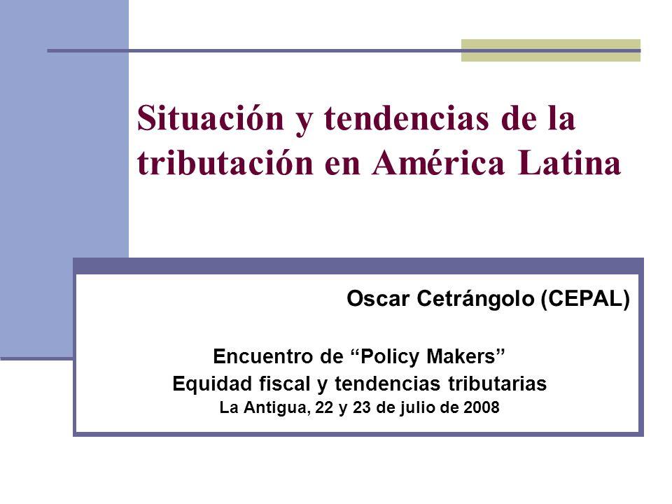Situación y tendencias de la tributación en América Latina