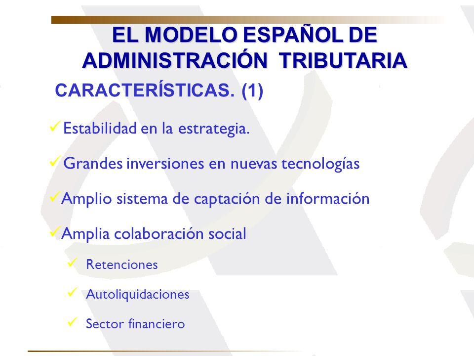 EL MODELO ESPAÑOL DE ADMINISTRACIÓN TRIBUTARIA