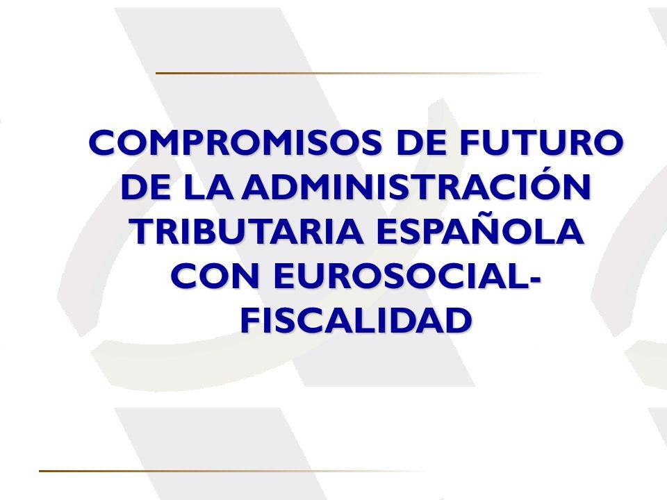 DE LA ADMINISTRACIÓN TRIBUTARIA ESPAÑOLA CON EUROSOCIAL-FISCALIDAD