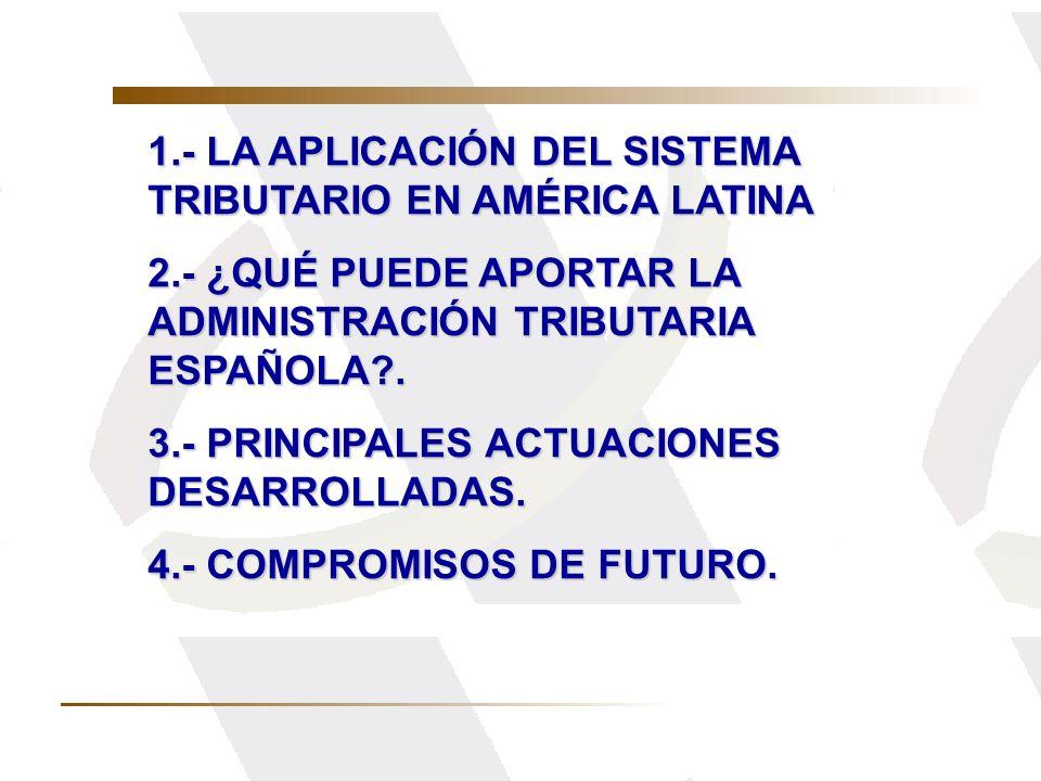 1.- LA APLICACIÓN DEL SISTEMA TRIBUTARIO EN AMÉRICA LATINA