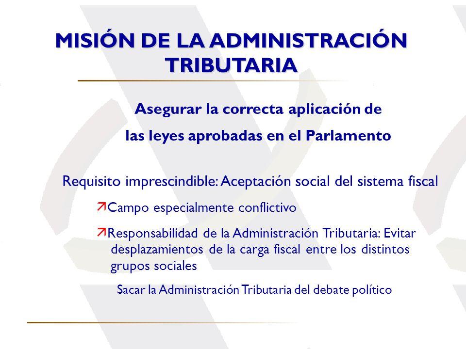 MISIÓN DE LA ADMINISTRACIÓN TRIBUTARIA