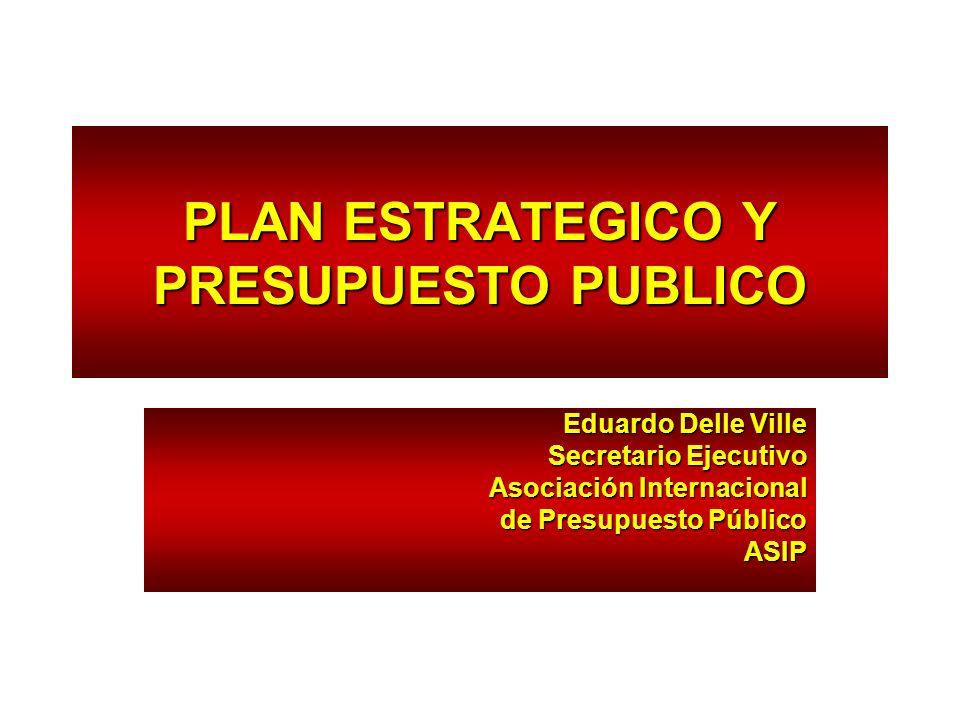PLAN ESTRATEGICO Y PRESUPUESTO PUBLICO