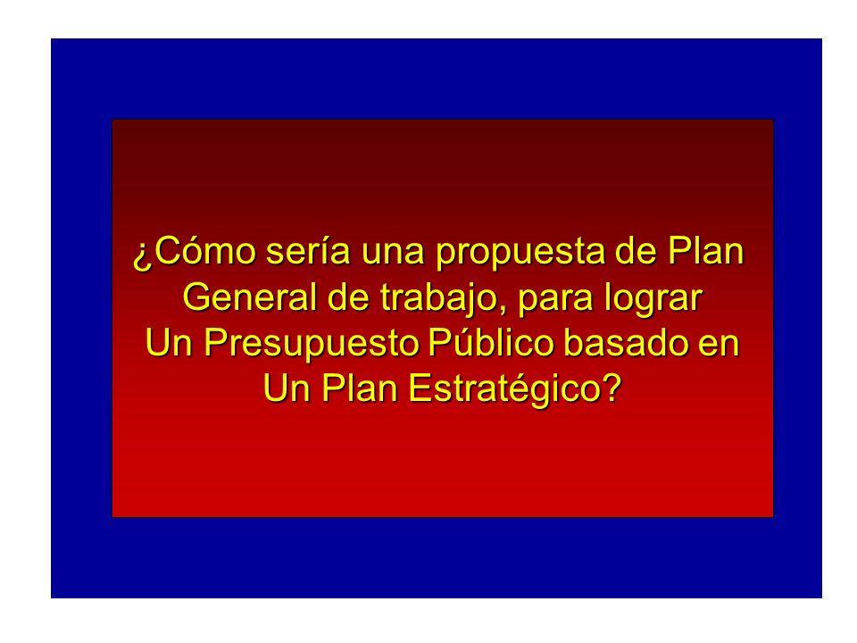 ¿Cómo sería una propuesta de Plan General de trabajo, para lograr