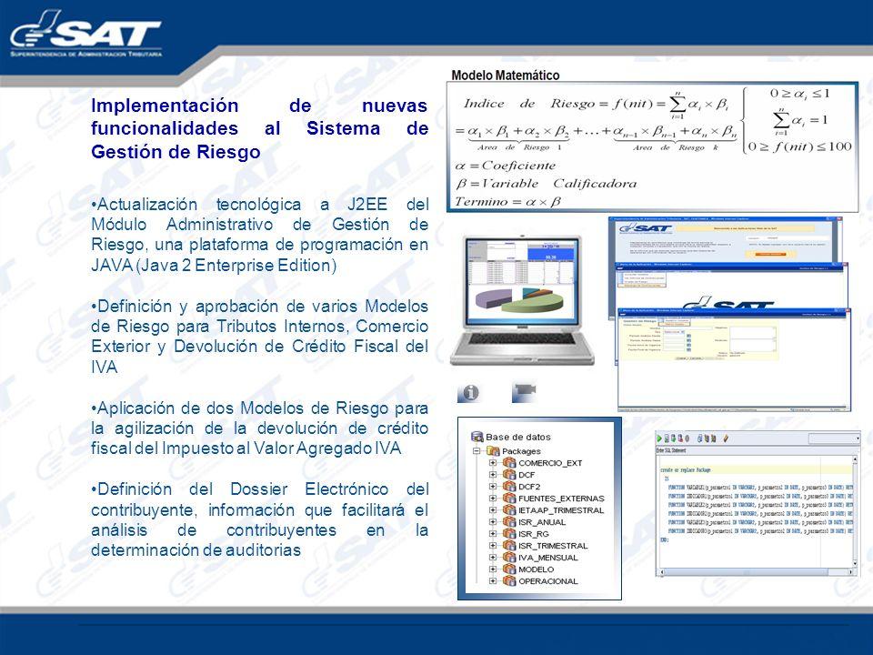 Implementación de nuevas funcionalidades al Sistema de Gestión de Riesgo