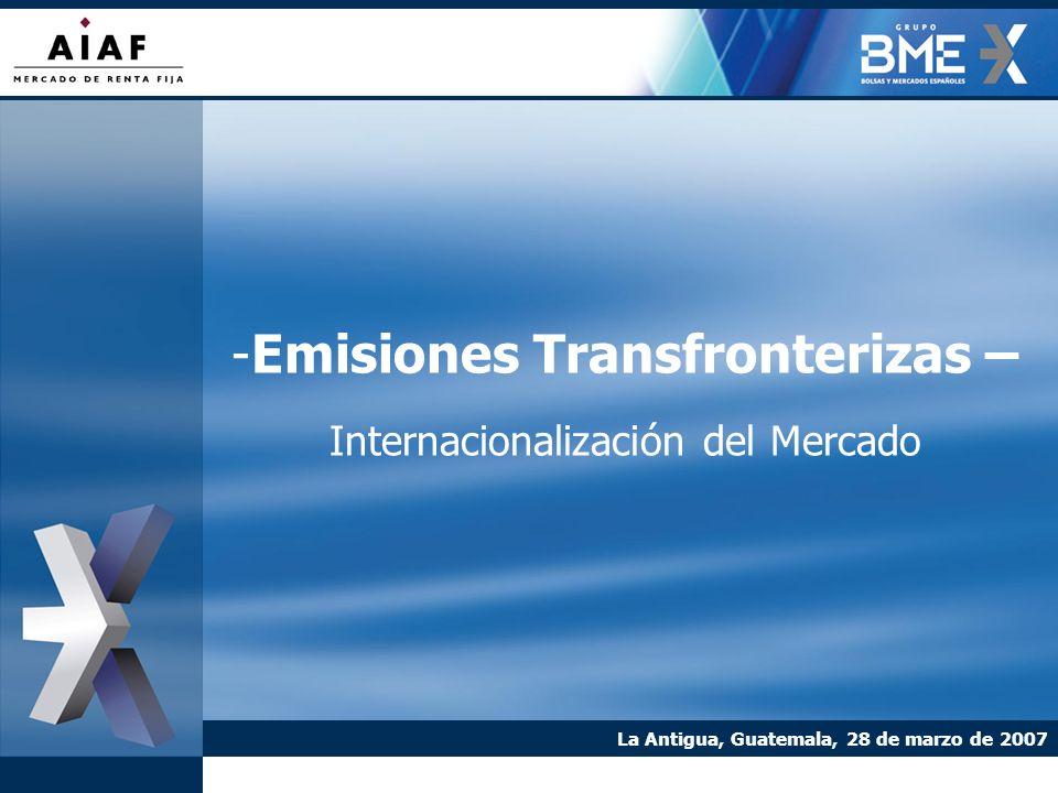 Emisiones Transfronterizas – Internacionalización del Mercado