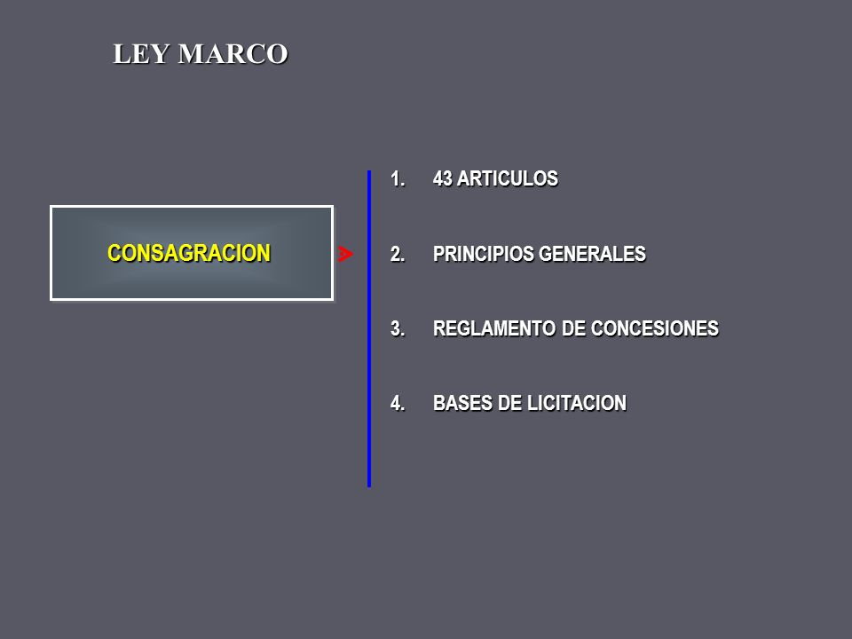 LEY MARCO CONSAGRACION 43 ARTICULOS PRINCIPIOS GENERALES