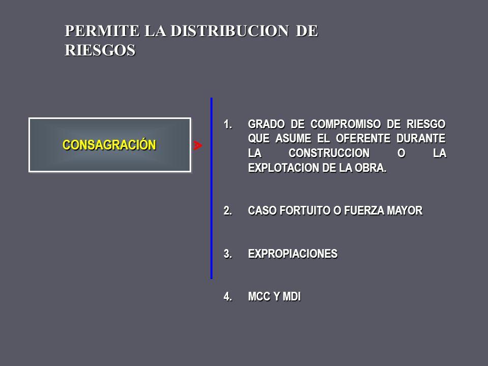 PERMITE LA DISTRIBUCION DE RIESGOS