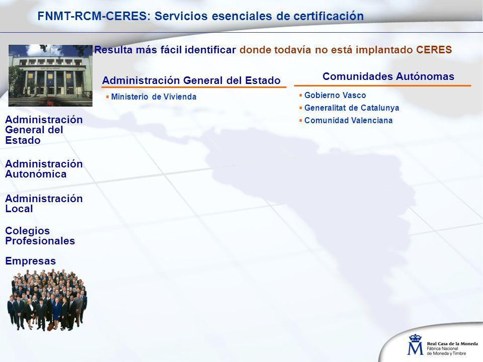 Comunidades Autónomas Administración General del Estado