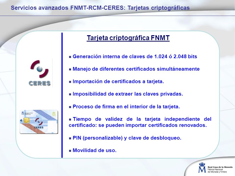 Tarjeta criptográfica FNMT